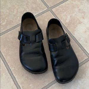 Black leather Birkenstock's